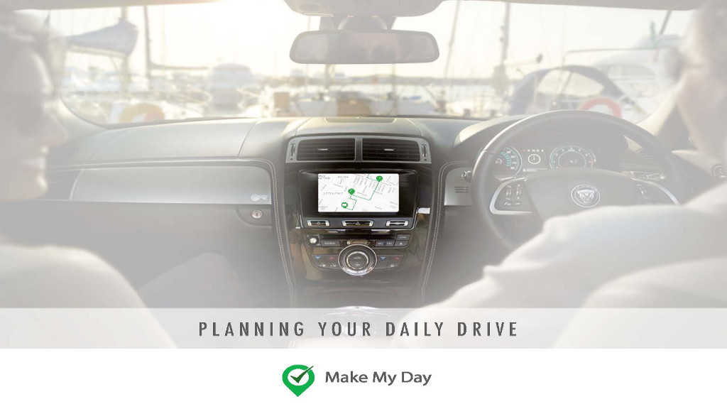 Make My Day in car app screen shot